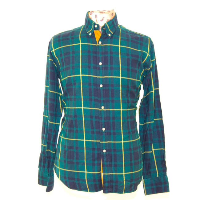 Green And Yellow Checkered Shirt