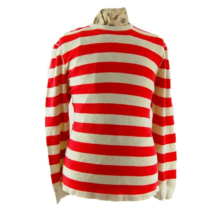 Mens Striped Long Sleeve Tee Shirt