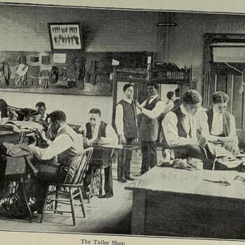 Mens retro shirts UK - The tailor shop, 1898