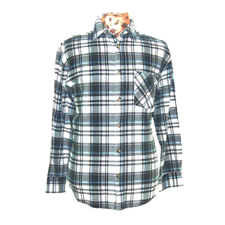 Oversized Grunge Checkered Shirt