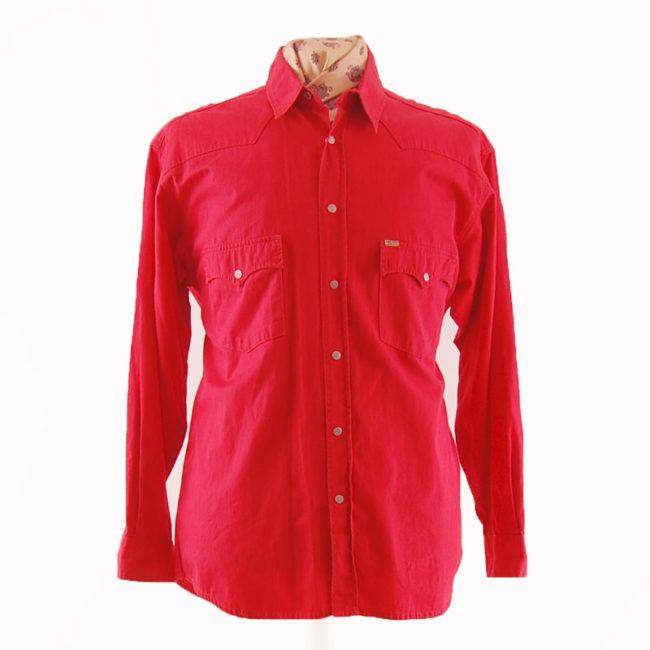 Red Mustang Western Shirt