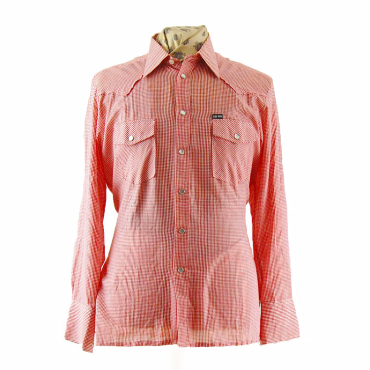 Red Small Gingham Western Shirt