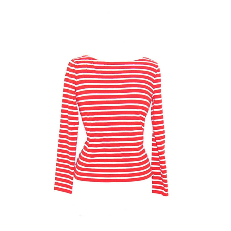 Red Stripey Long Sleeve Tee Shirt