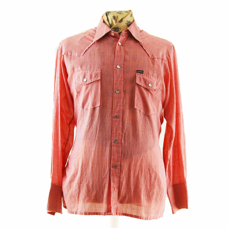Small Gingham Red Western Shirt