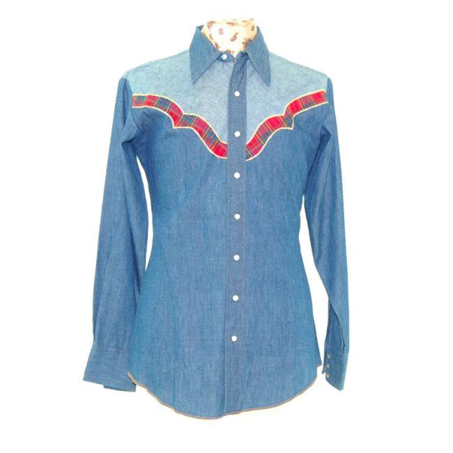 Dee Cee Two Tone Denim Western Shirt