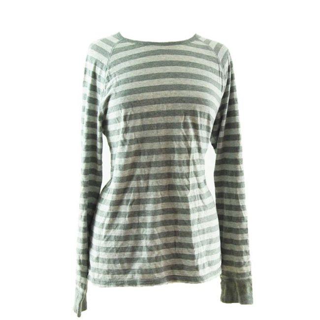 Two Tone Grey Long Sleeve Tee Shirt