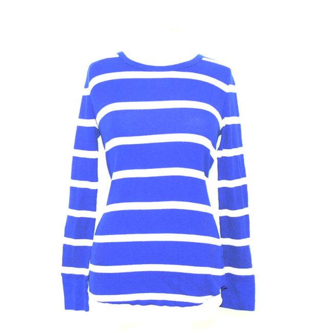 Vibrant Blue Long Sleeve Tee Shirt