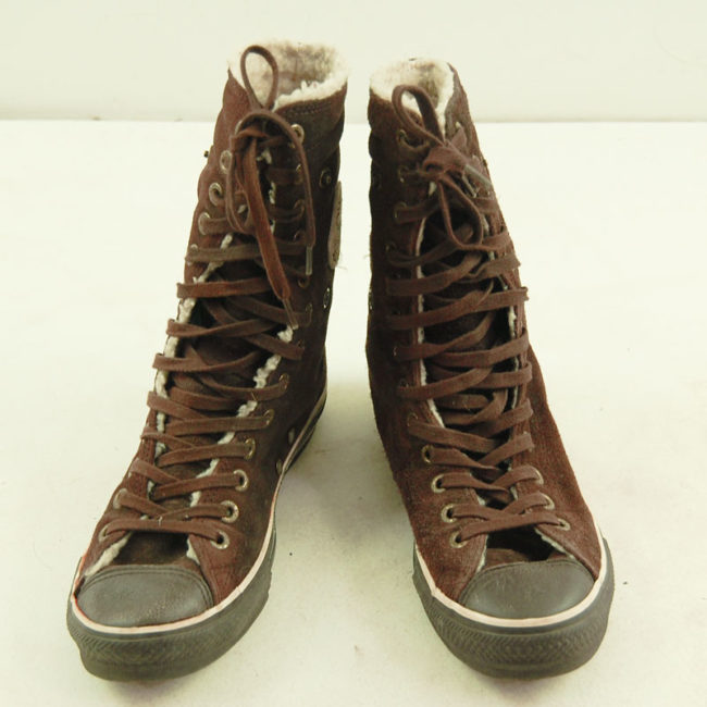 Vintage Brown Converse All Star High Tops