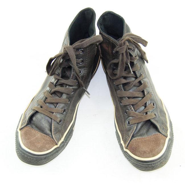 Vintage Brown Leather Converse Sneakers