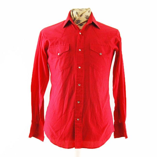 Vintage Red Western Shirt