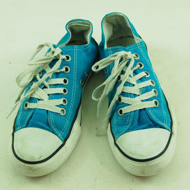 Vintage Turquoise Converse All Star Sneakers