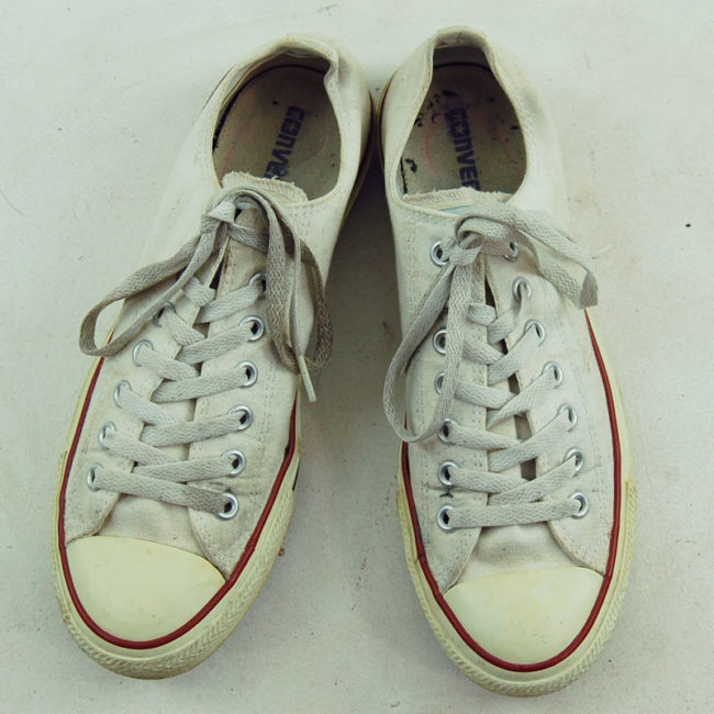 Vintage White Converse All Stars