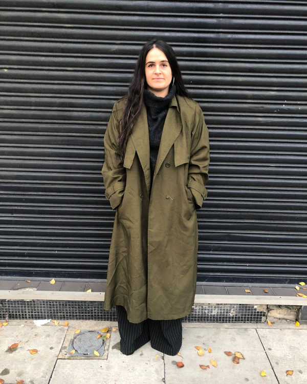 Womens Vintage Trench Coat