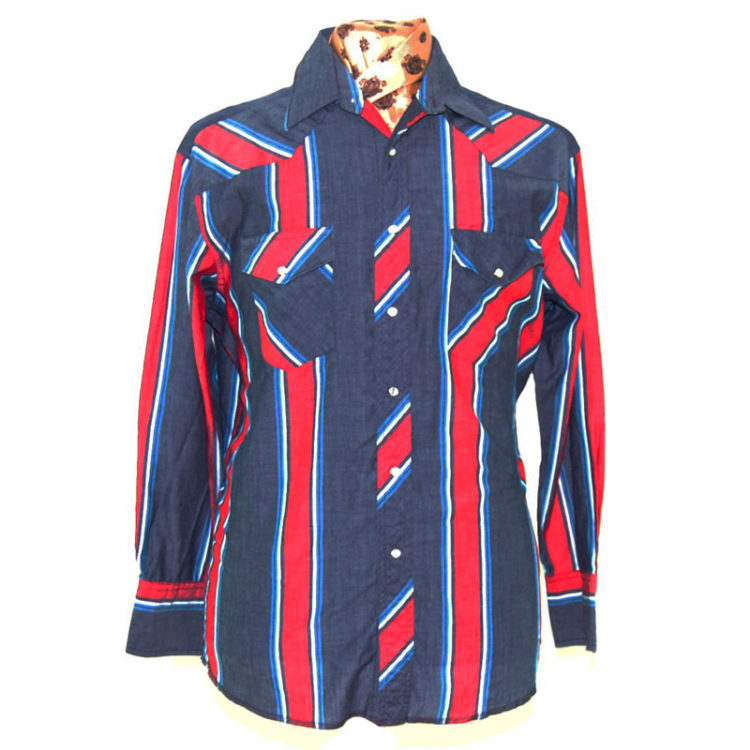 Wrangler Multicolored Striped Western Shirt