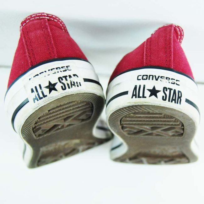 back of Burgundy All Star Converse Mens Sneakers