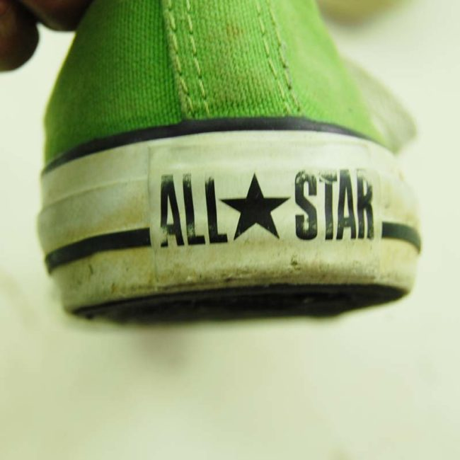 back of Green Converse All Star Sneakers