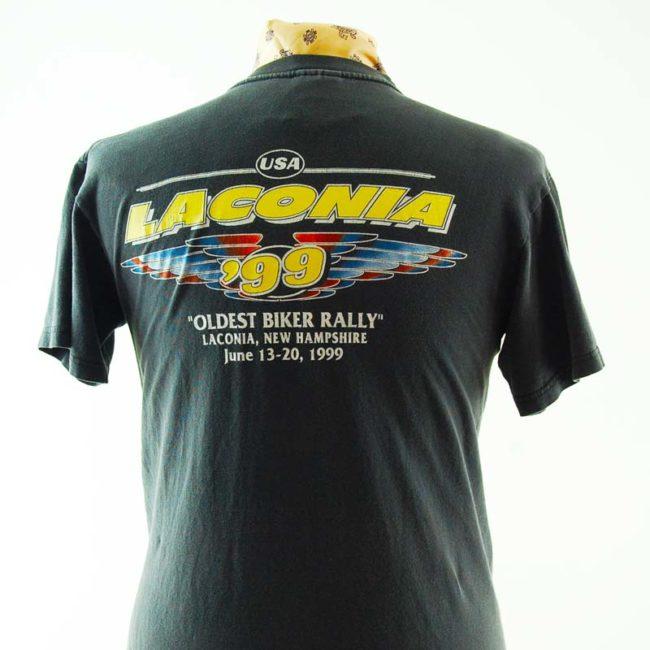 back of Laconia 1999 Retro Tee Shirt