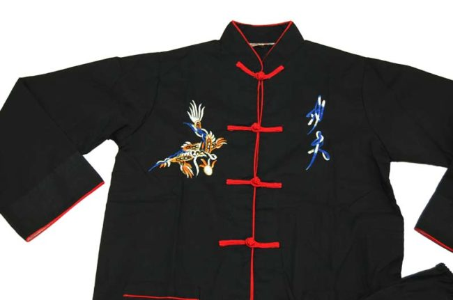 close up of Chinese Child Size Tang Suit