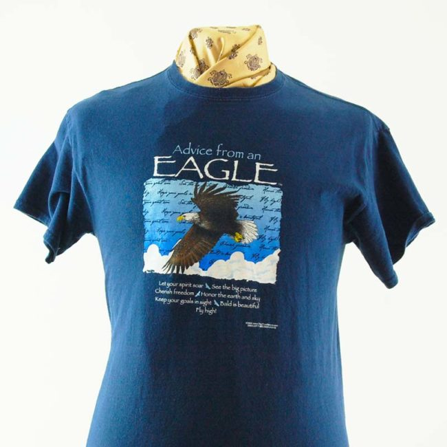 close up of Eagle Nature Tee Shirt