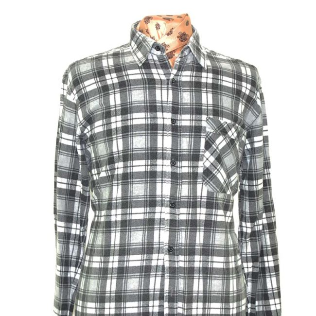 close up of Grey Oversized Grunge Shirt