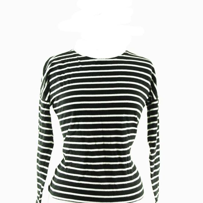 close up of Long Sleeve Striped Tee Shirt