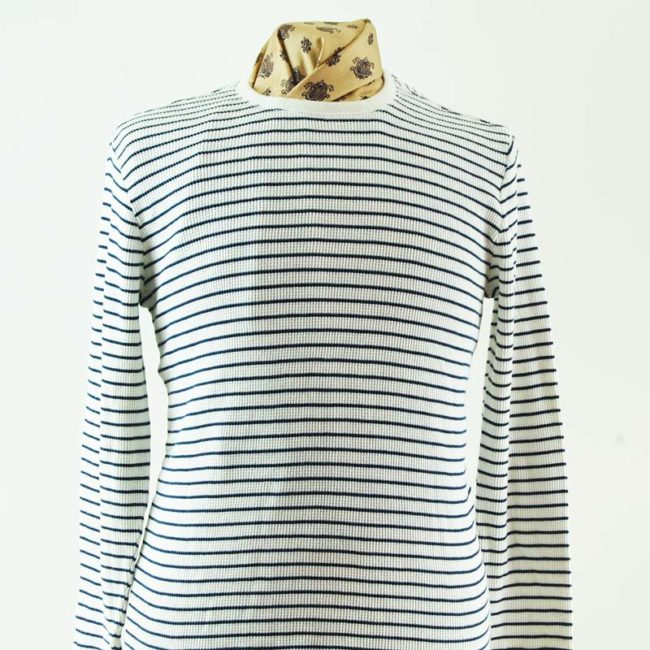 close up of Ribbed Long Sleeve Tee Shirt