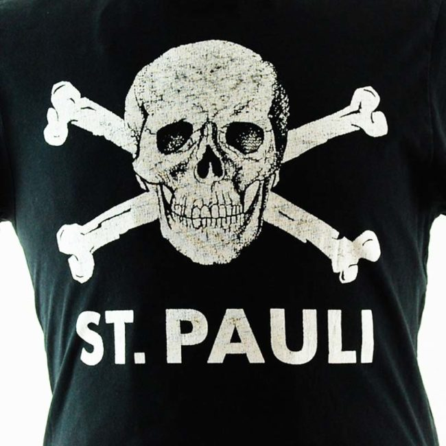 close up of St. Pauli Football Team Tee Shirt