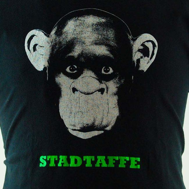 close up of Stadtaffe Album Cover Tee Shirt