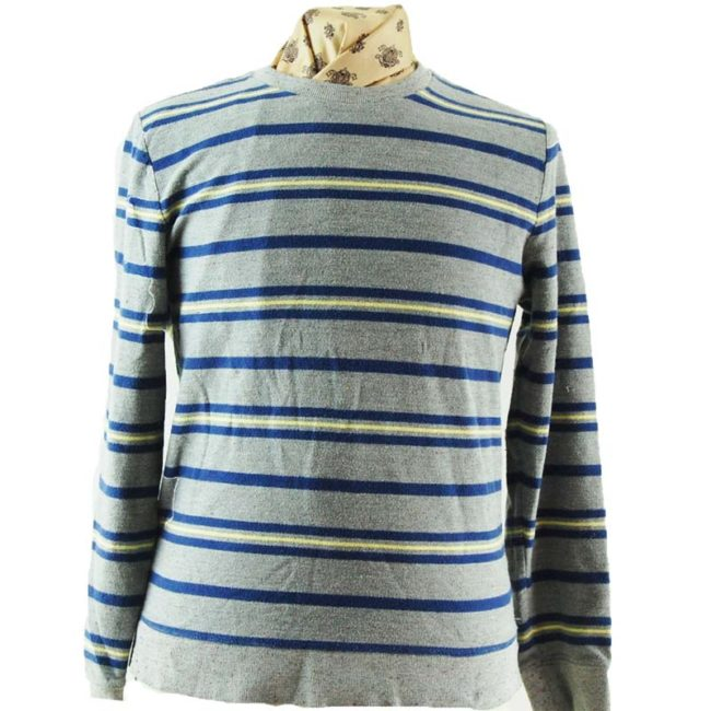 close up of Urban Outfitters Striped Long Sleeve Tee