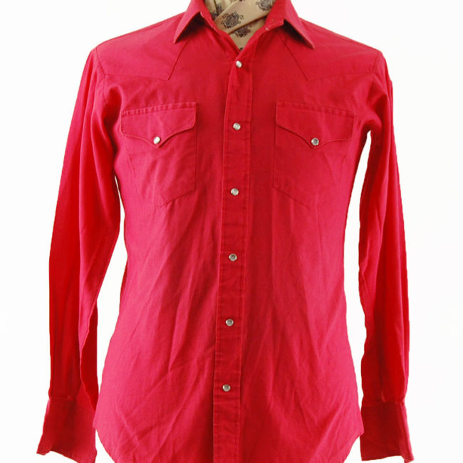 close up of Vintage Red Western Shirt