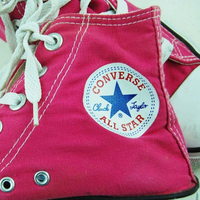 label of 90s Pink One Star Converse Sneakers