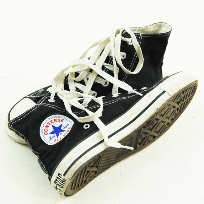 label of Black Converse Basketball Shoes 90s