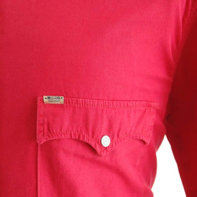 label of Red Mustang Western Shirt
