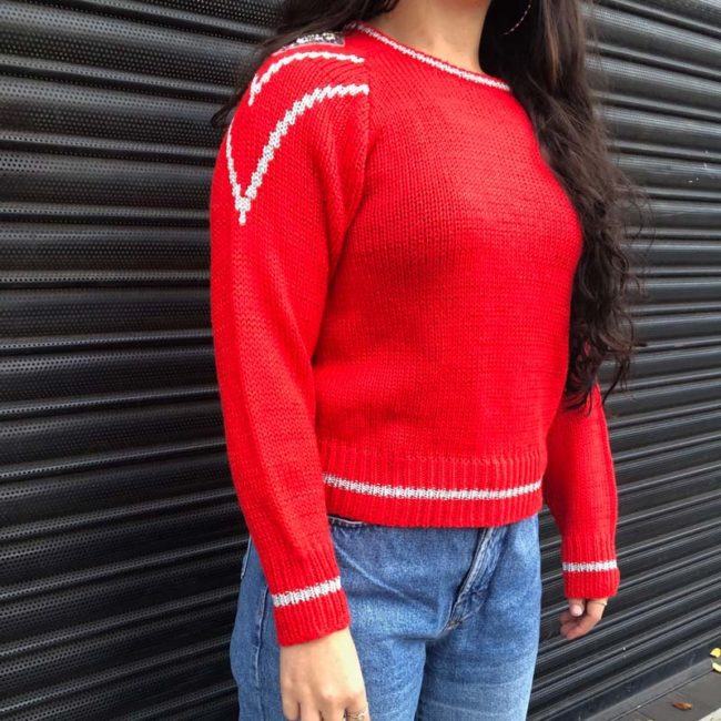 side of 80s Adell Barre Festive Jumper