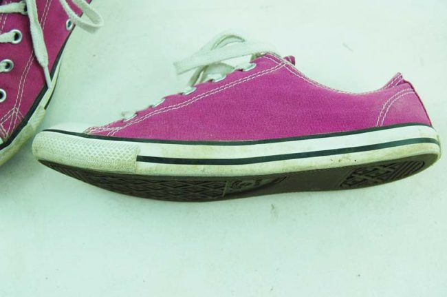 side of Vintage Purple Converse All Star Sneakers