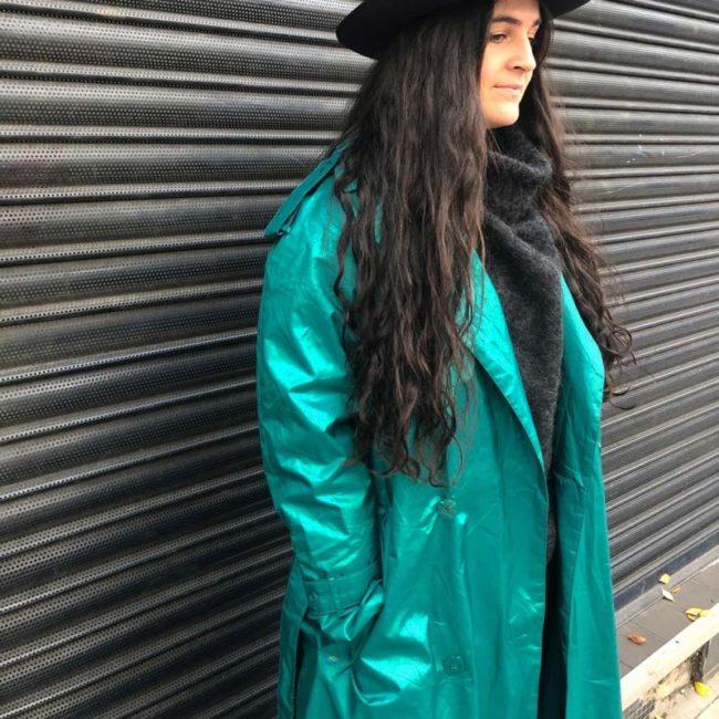 side of Womens Waterproof Trench Coat