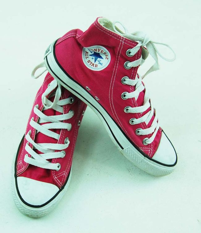 top of 90s Pink One Star Converse Sneakers