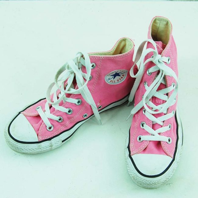 top of 90s Vibrant Pink Converse Sneakers