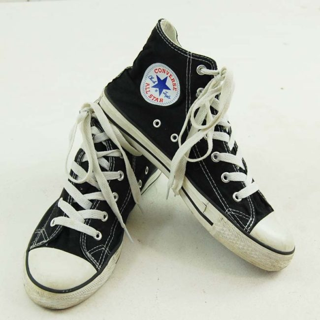 top of Black Converse Basketball Shoes 90s