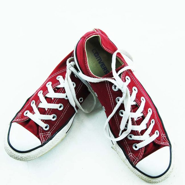 top of Burgundy All Star Converse Mens Sneakers