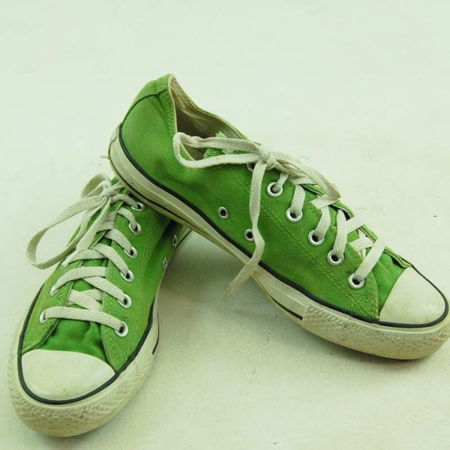 top of Green Converse All Star Sneakers