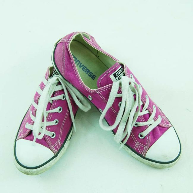 top of Vintage Purple Converse All Star Sneakers