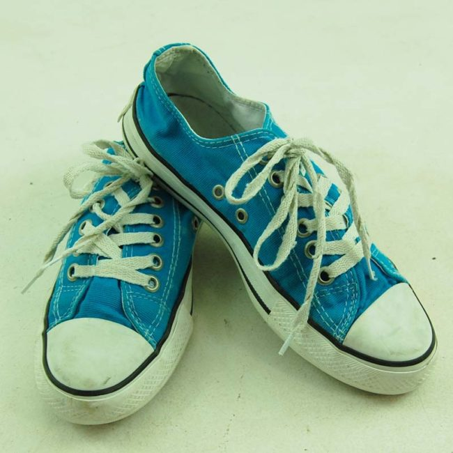 top of Vintage Turquoise Converse All Star Sneakers