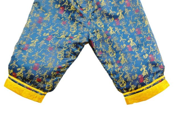 trousers of Child Blue And Gold Oriental Formal Wear