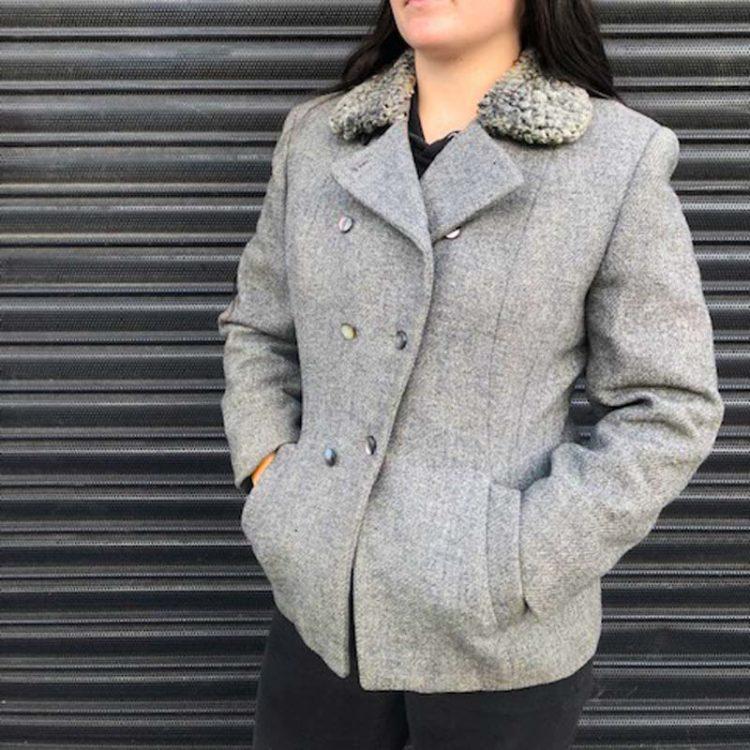 1950s Women Warm Wool Coat