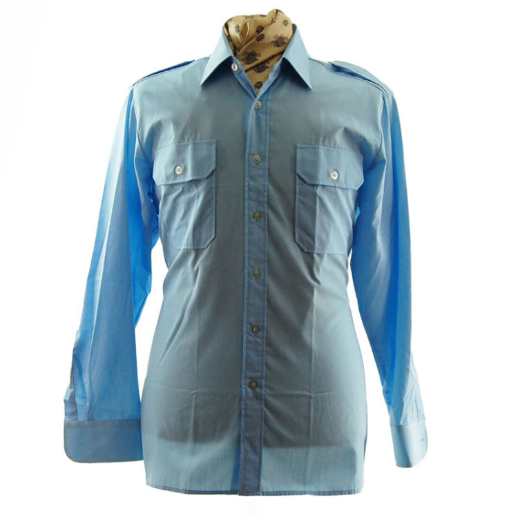 70s Baby Blue Work Shirt