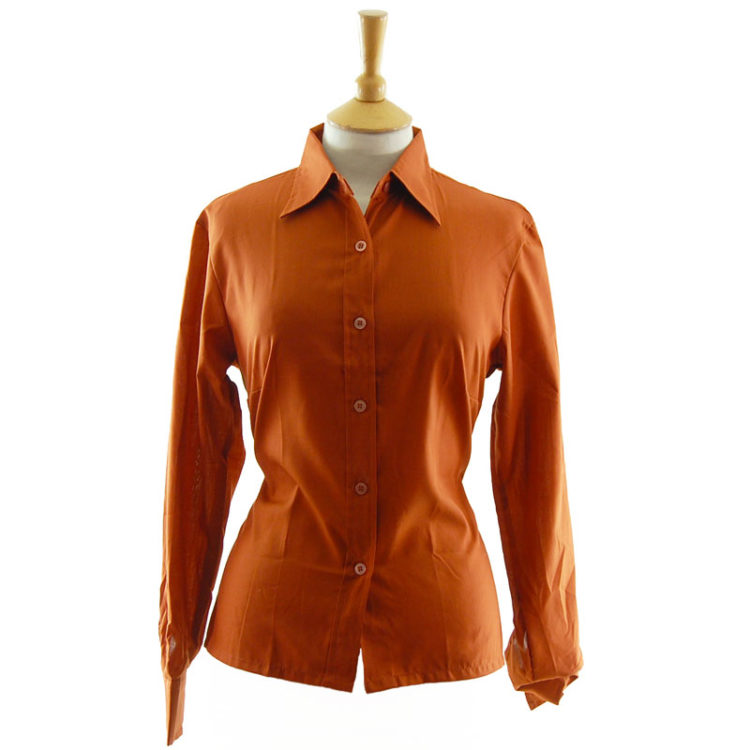 70s Burnt Orange Vintage blouse