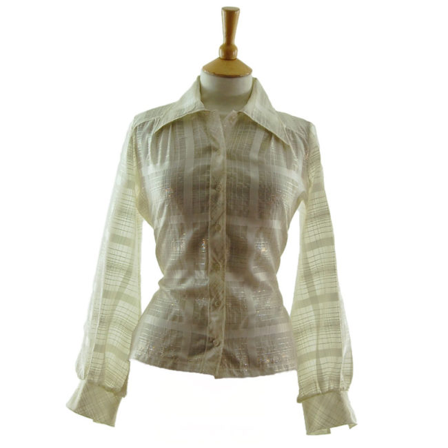 70s Transparent Netted Blouse