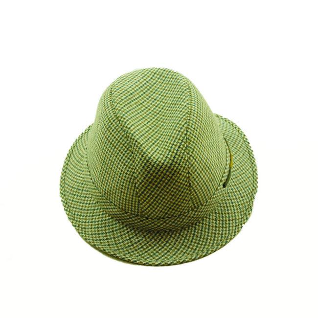 80s Mens Tweed Homburg Style Hat