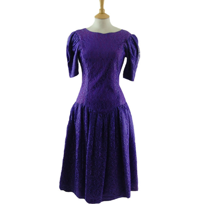 80s Purple Evening Dress